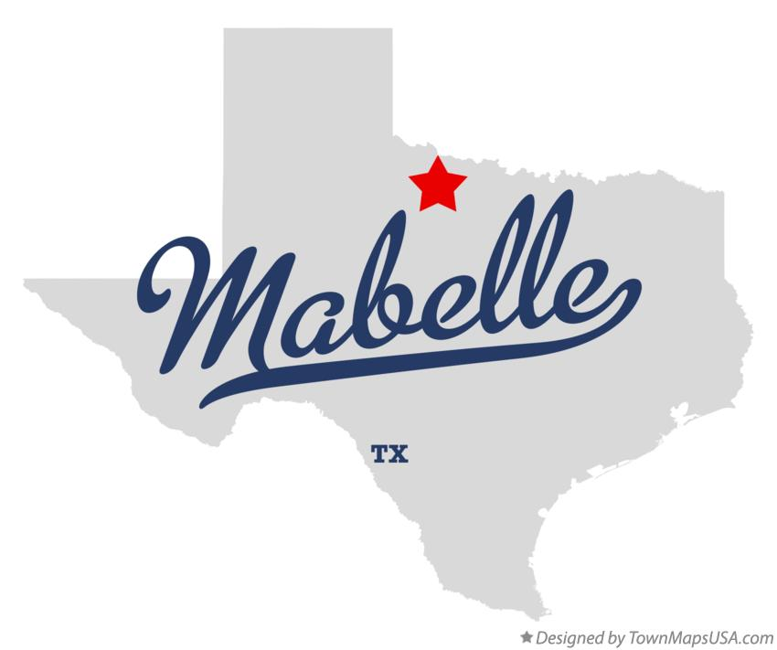 Map of Mabelle Texas TX