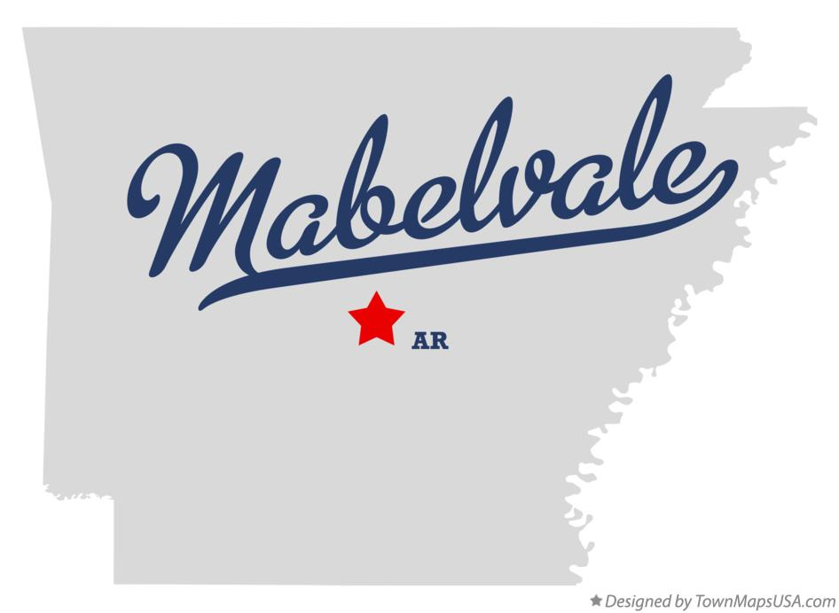 Map of Mabelvale Arkansas AR