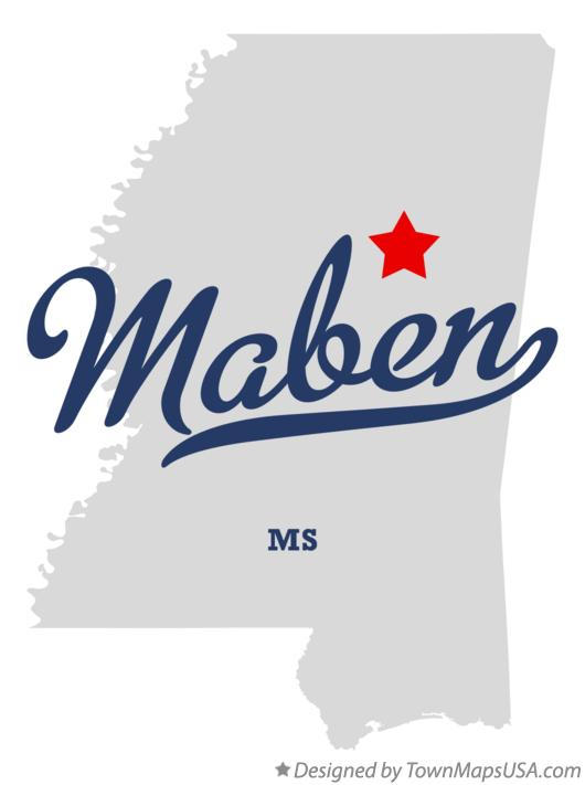 Map of Maben Mississippi MS