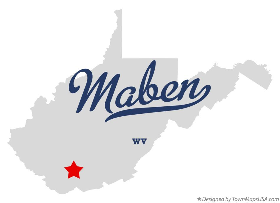 Map of Maben West Virginia WV