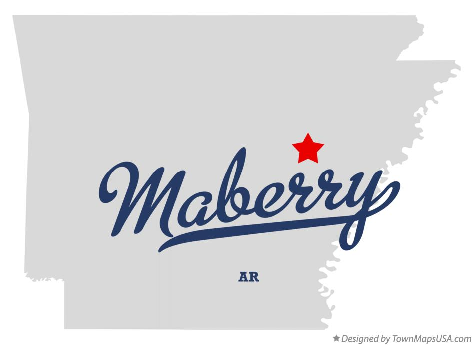 Map of Maberry Arkansas AR