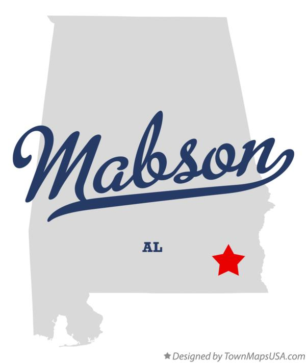 Map of Mabson Alabama AL