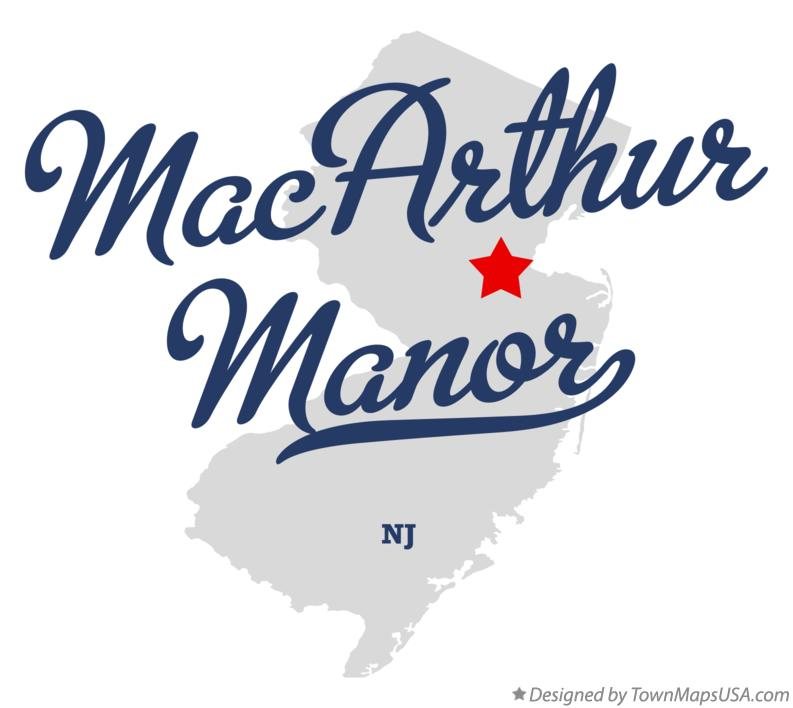 Map of MacArthur Manor New Jersey NJ