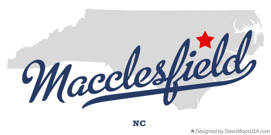 Map of Macclesfield North Carolina NC
