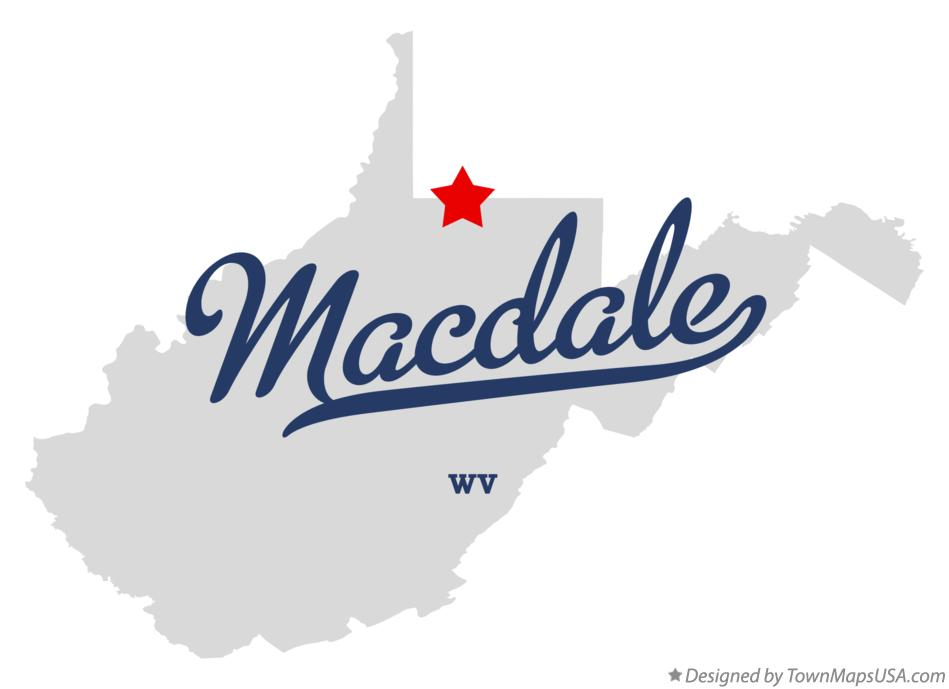 Map of Macdale West Virginia WV