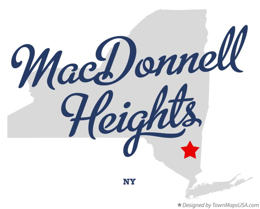 Map of MacDonnell Heights New York NY