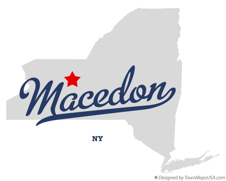 Map of Macedon New York NY