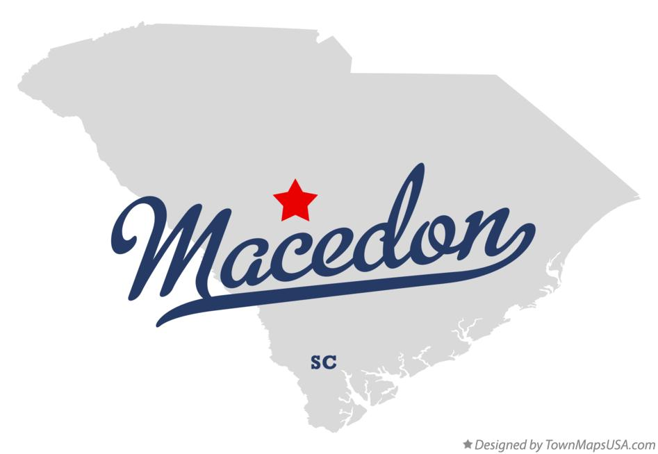 Map of Macedon South Carolina SC