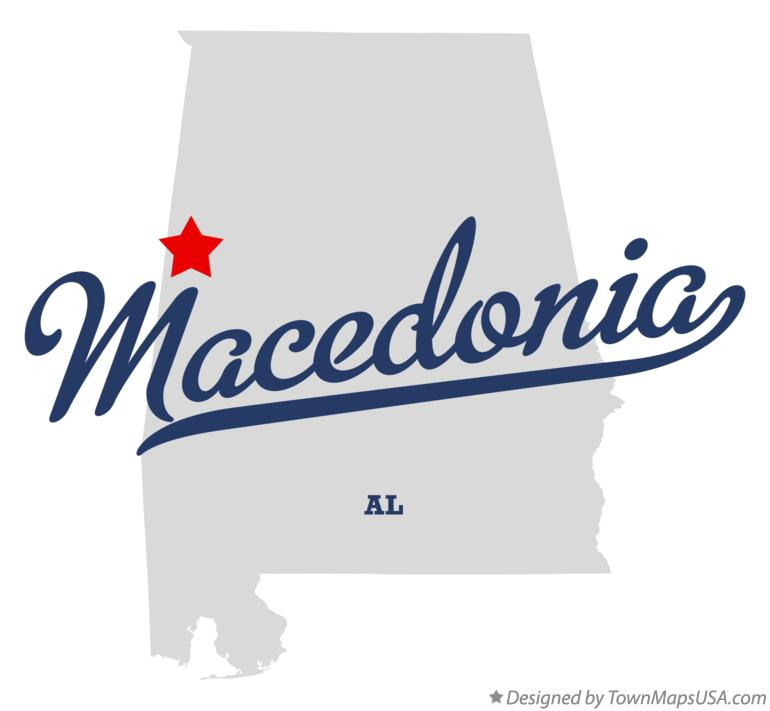 Map of Macedonia Alabama AL