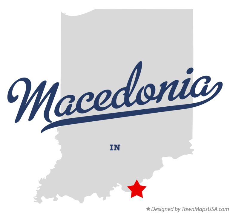 Map of Macedonia Indiana IN