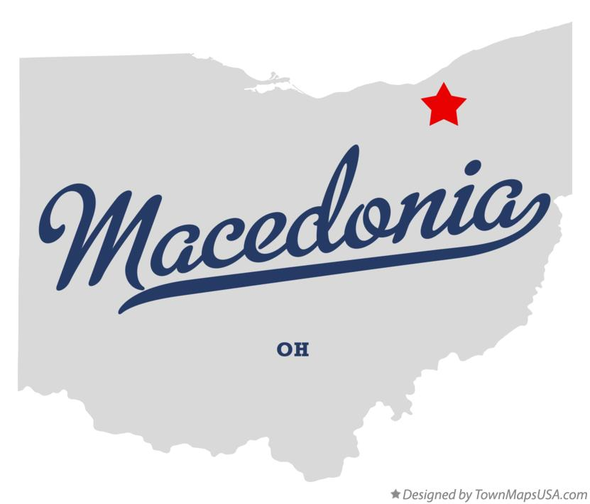 Map of Macedonia Ohio OH
