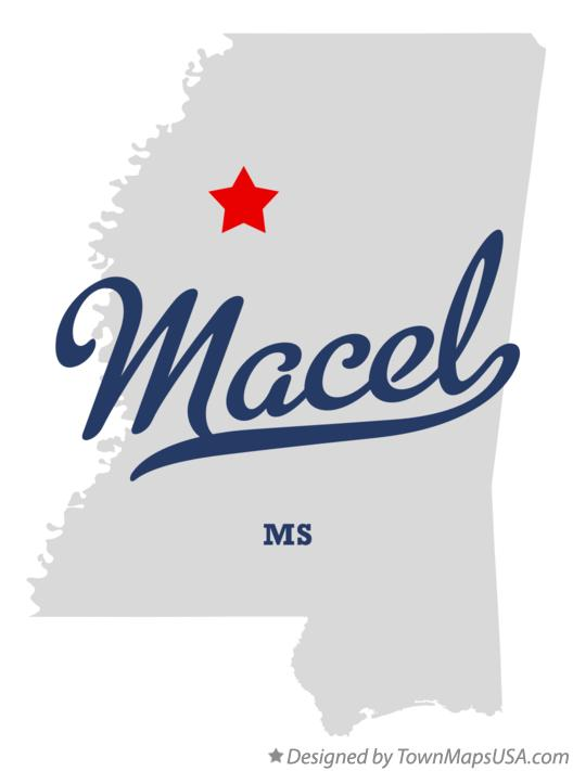 Map of Macel Mississippi MS