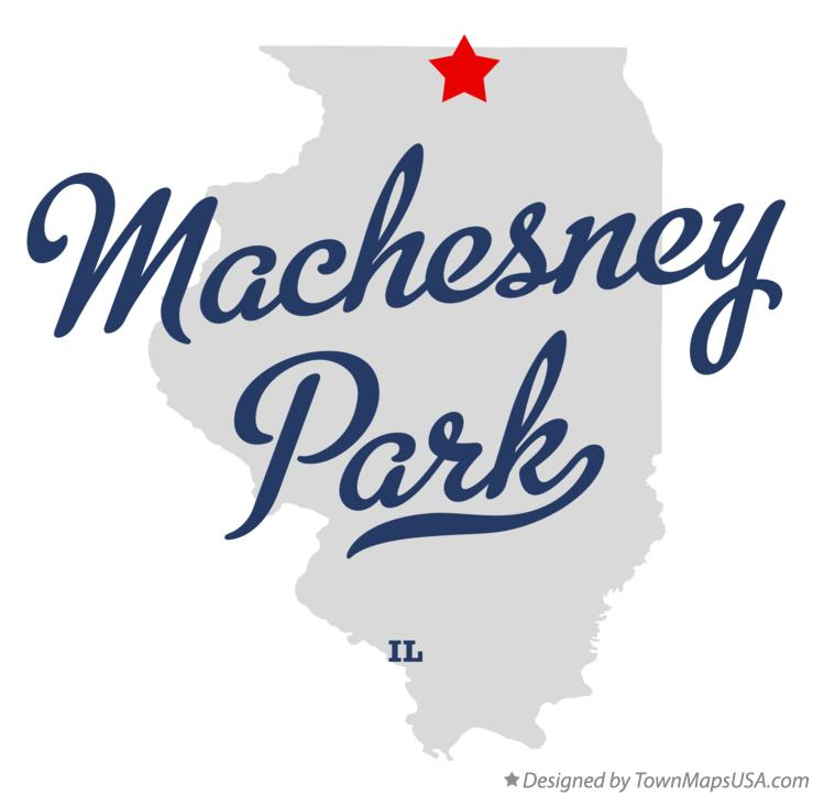 Map of Machesney Park Illinois IL