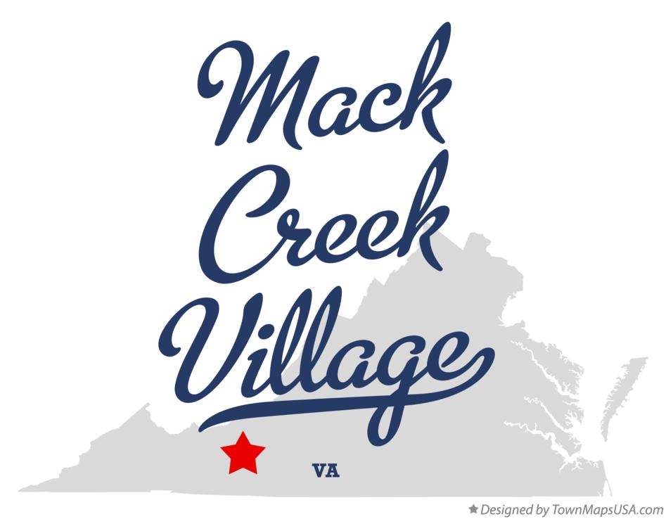 Map of Mack Creek Village Virginia VA
