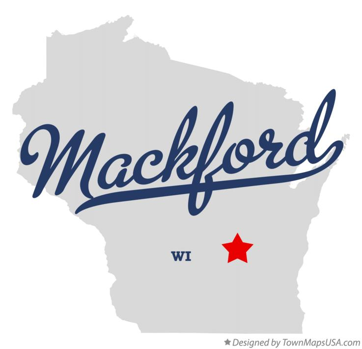 Map of Mackford Wisconsin WI