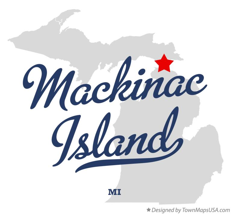 Map of Mackinac Island Michigan MI