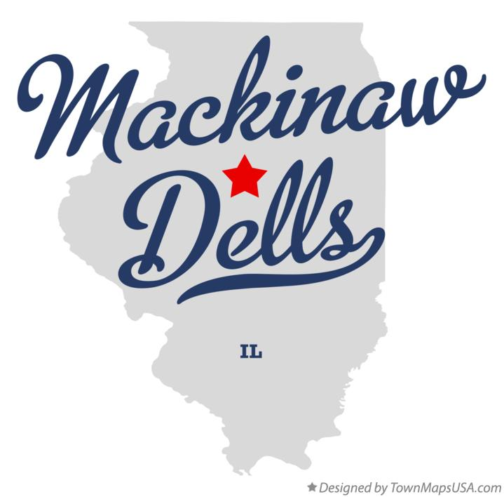 Map of Mackinaw Dells Illinois IL