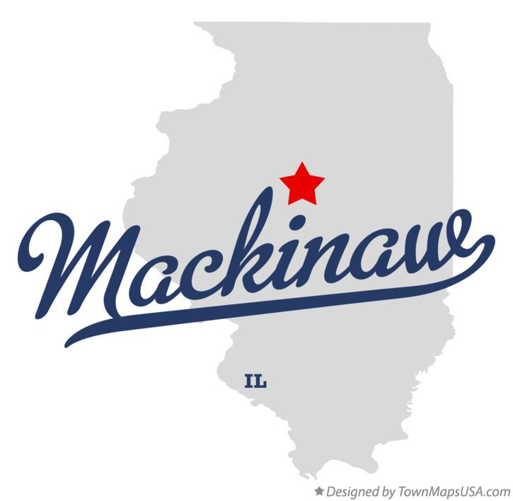 Map of Mackinaw Illinois IL