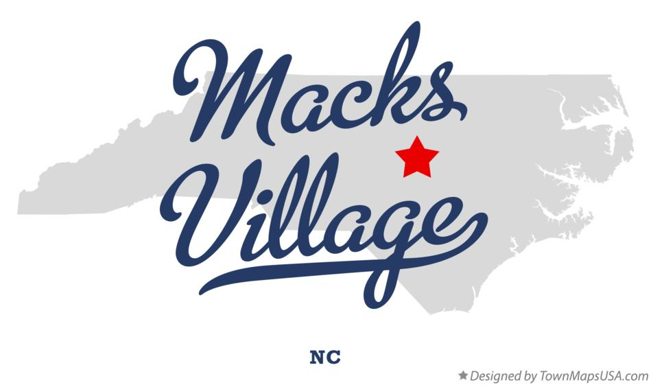 Map of Macks Village North Carolina NC