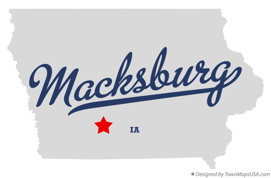 Map of Macksburg Iowa IA