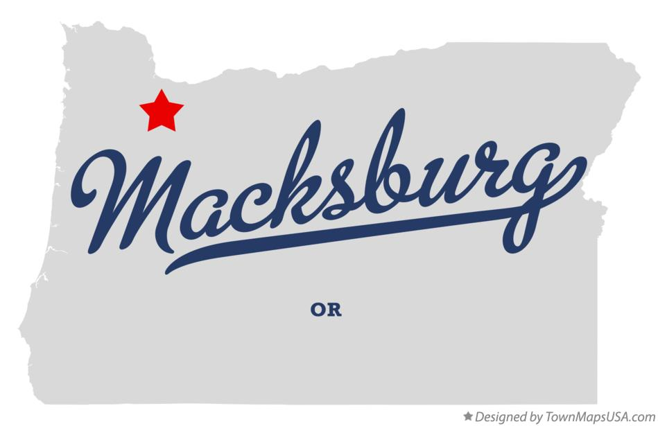 Map of Macksburg Oregon OR