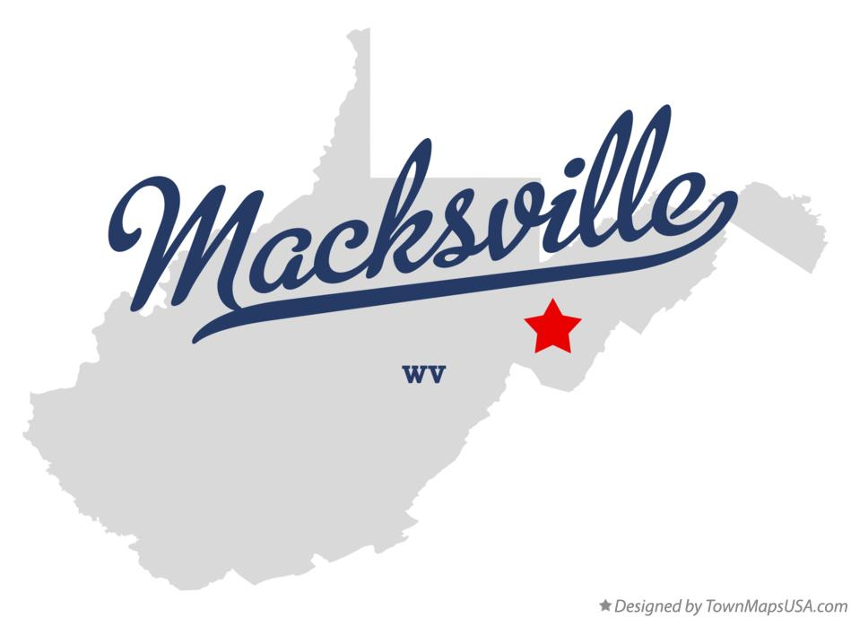 Map of Macksville West Virginia WV