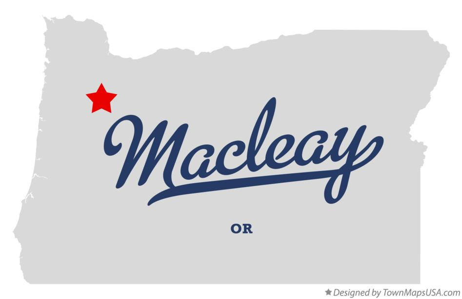 Map of Macleay Oregon OR