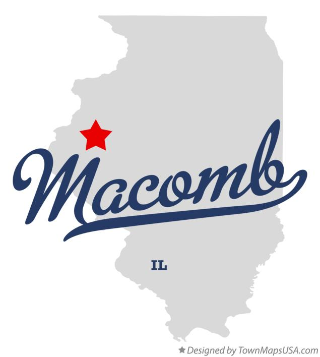 Map of Macomb Illinois IL