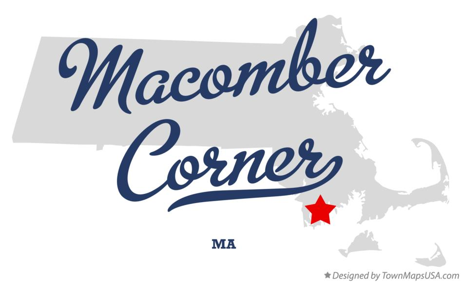 Map of Macomber Corner Massachusetts MA