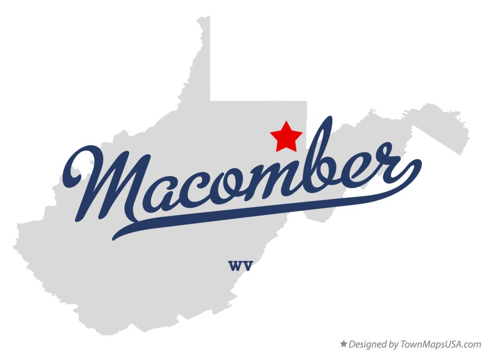 Map of Macomber West Virginia WV