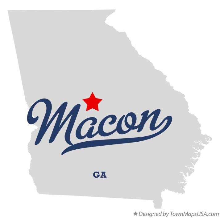 Map Of Macon GA Georgia - Georgia map macon