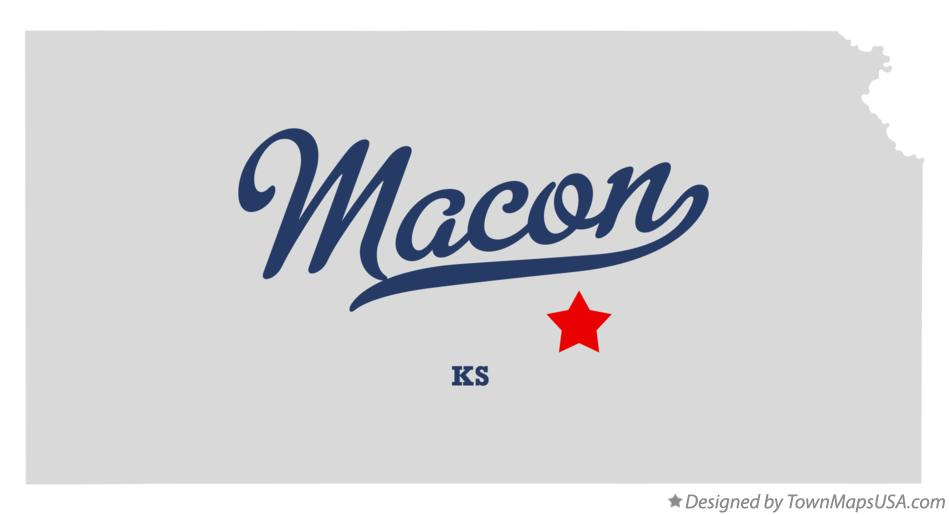 Map of Macon Kansas KS