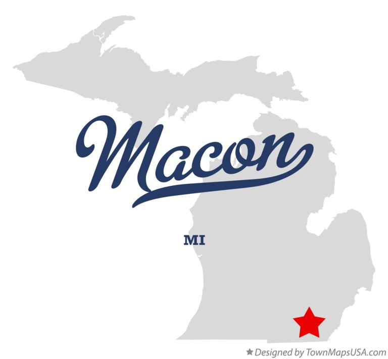 Map of Macon Michigan MI