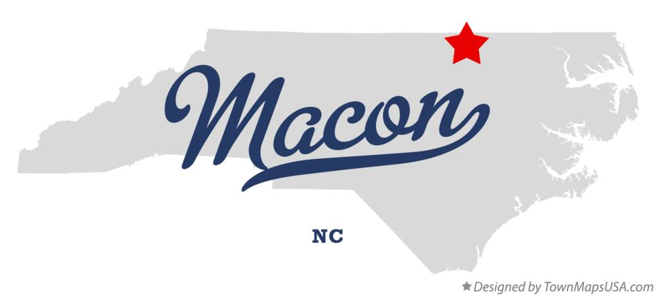 Map of Macon North Carolina NC