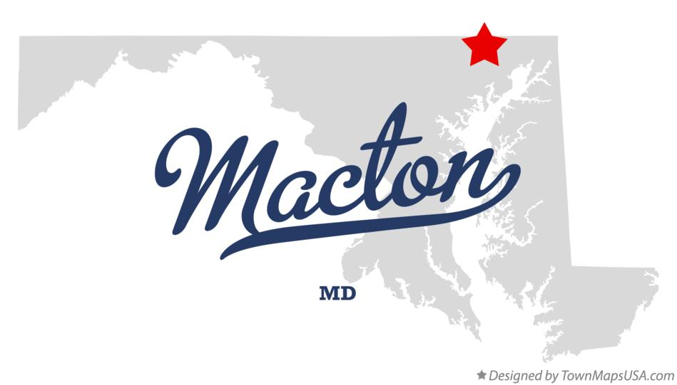 Map of Macton Maryland MD