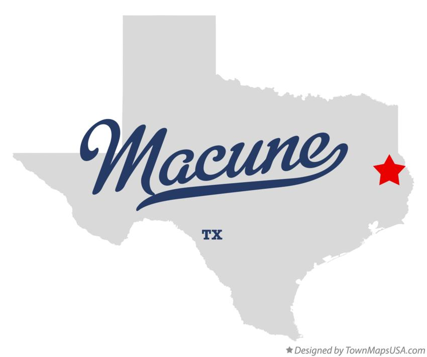 Map of Macune Texas TX