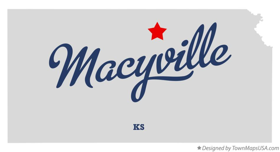 Map of Macyville Kansas KS