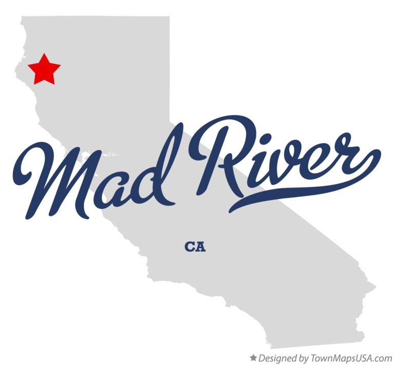 Map of Mad River California CA