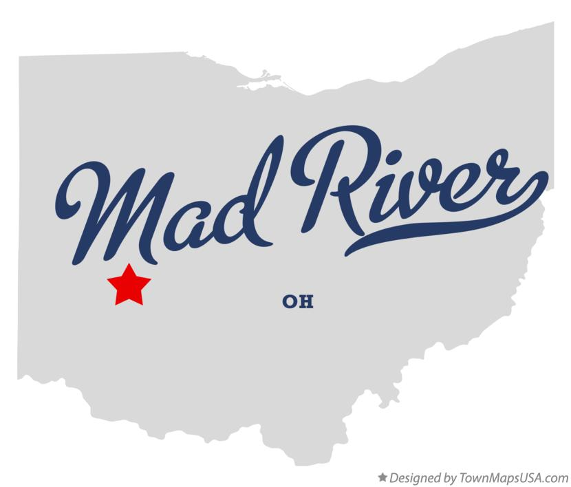 Map of Mad River Ohio OH