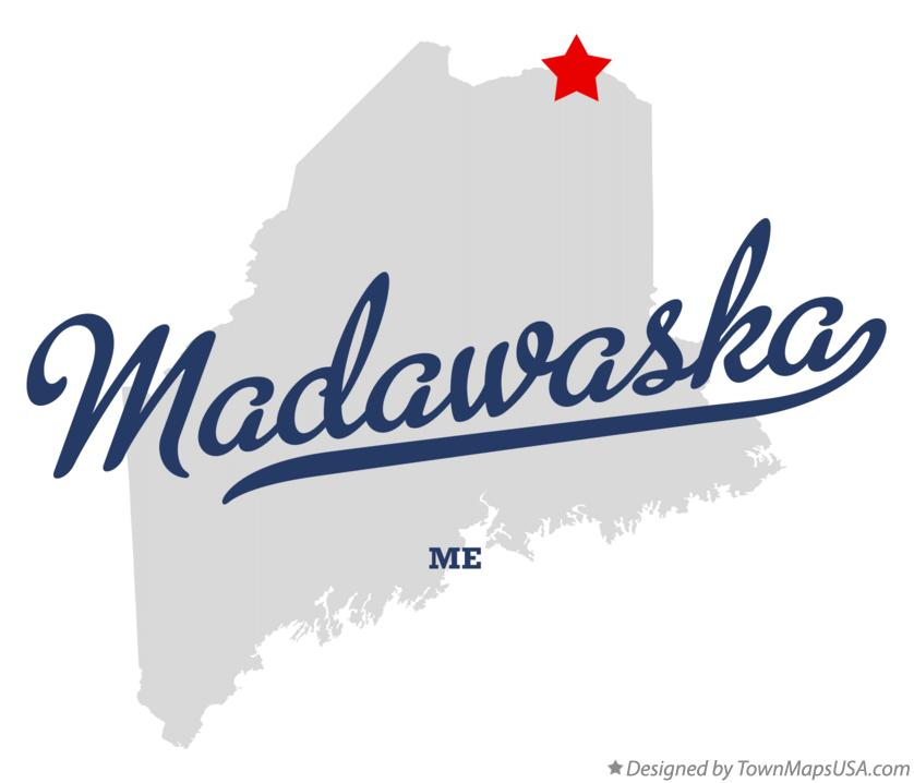 Map of Madawaska Maine ME
