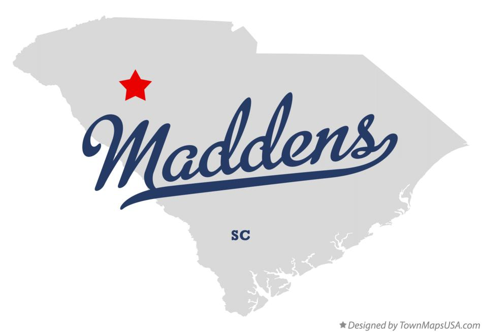 Map of Maddens South Carolina SC