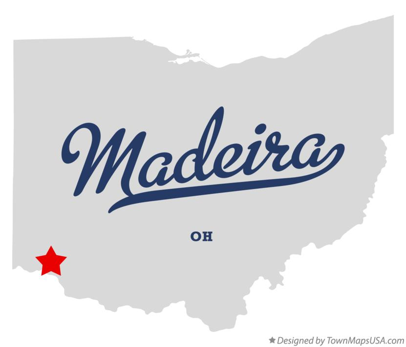 Map of Madeira Ohio OH