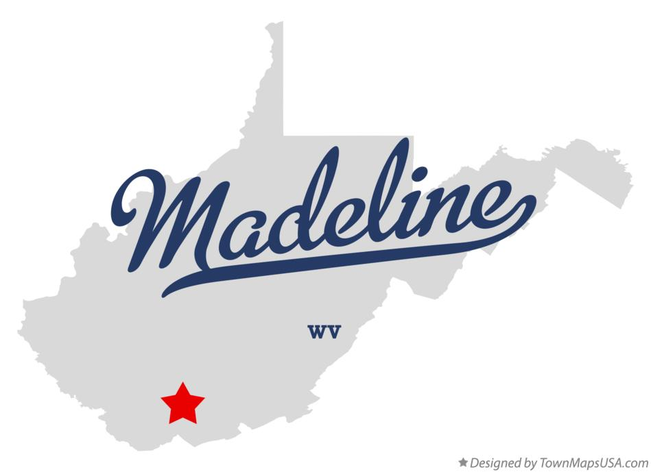Map of Madeline West Virginia WV