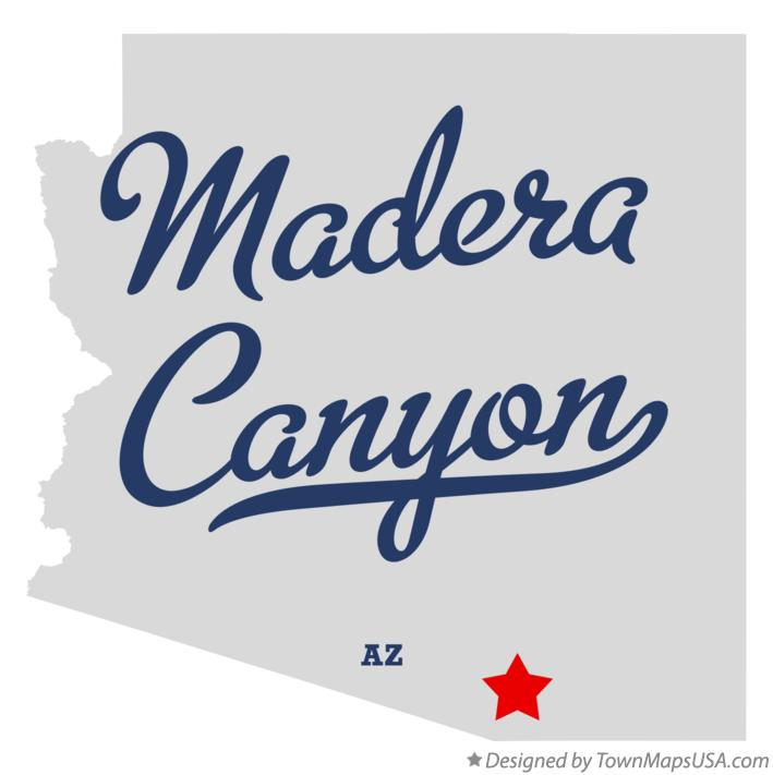 Map of Madera Canyon Arizona AZ