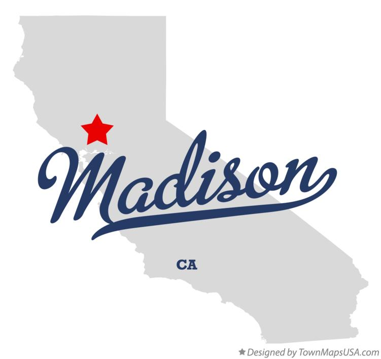 Map of Madison California CA
