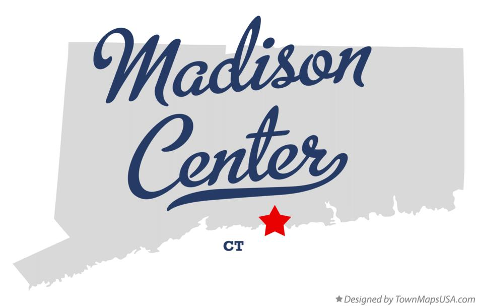 Map of Madison Center Connecticut CT