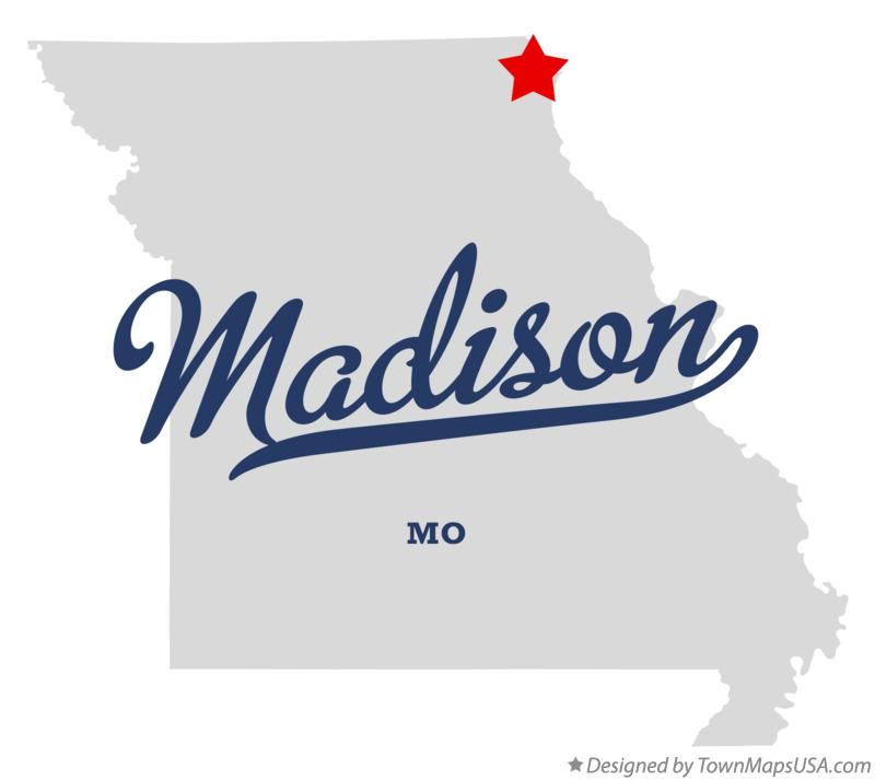 Map of Madison Missouri MO