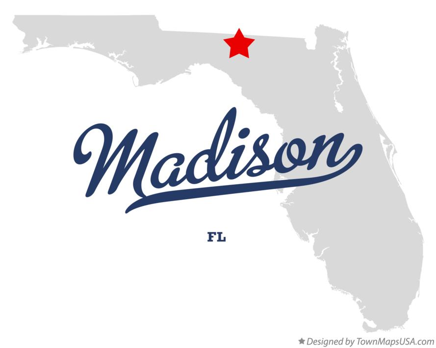Map of Madison Florida FL