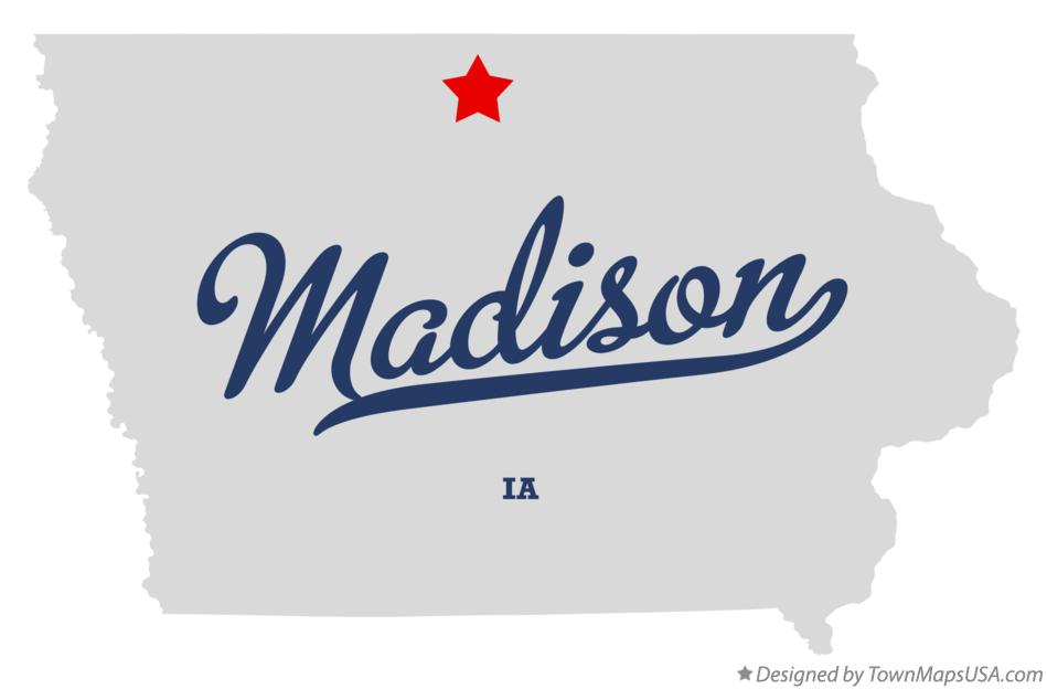 Map of Madison Iowa IA