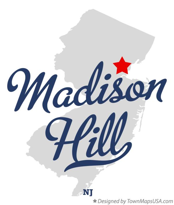 Map of Madison Hill New Jersey NJ
